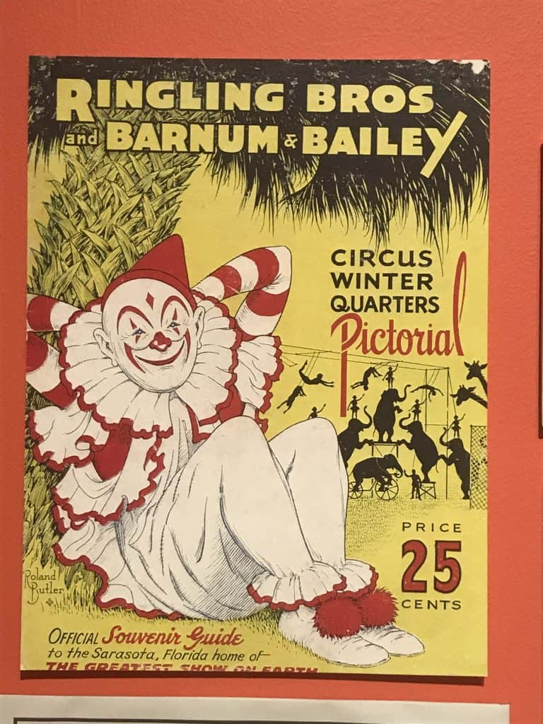 Old poster for Ringling Bros Barnum & Bailey Circus