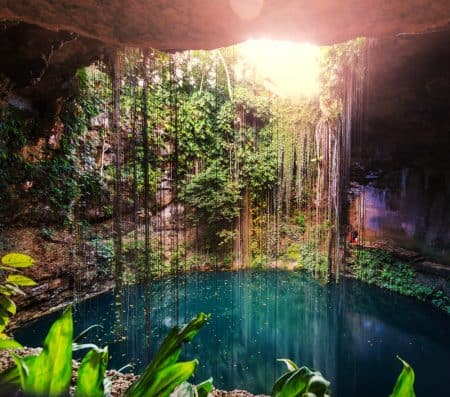 Mexican sinkhole or cenote