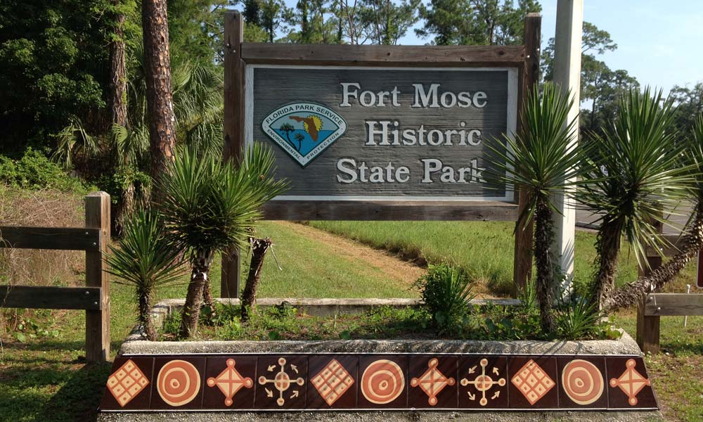 Fort Mose State Park Sign, St Augustine