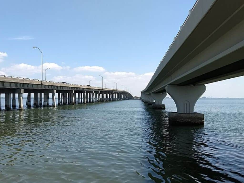 View of Courtney Campbell Causeway and Trail