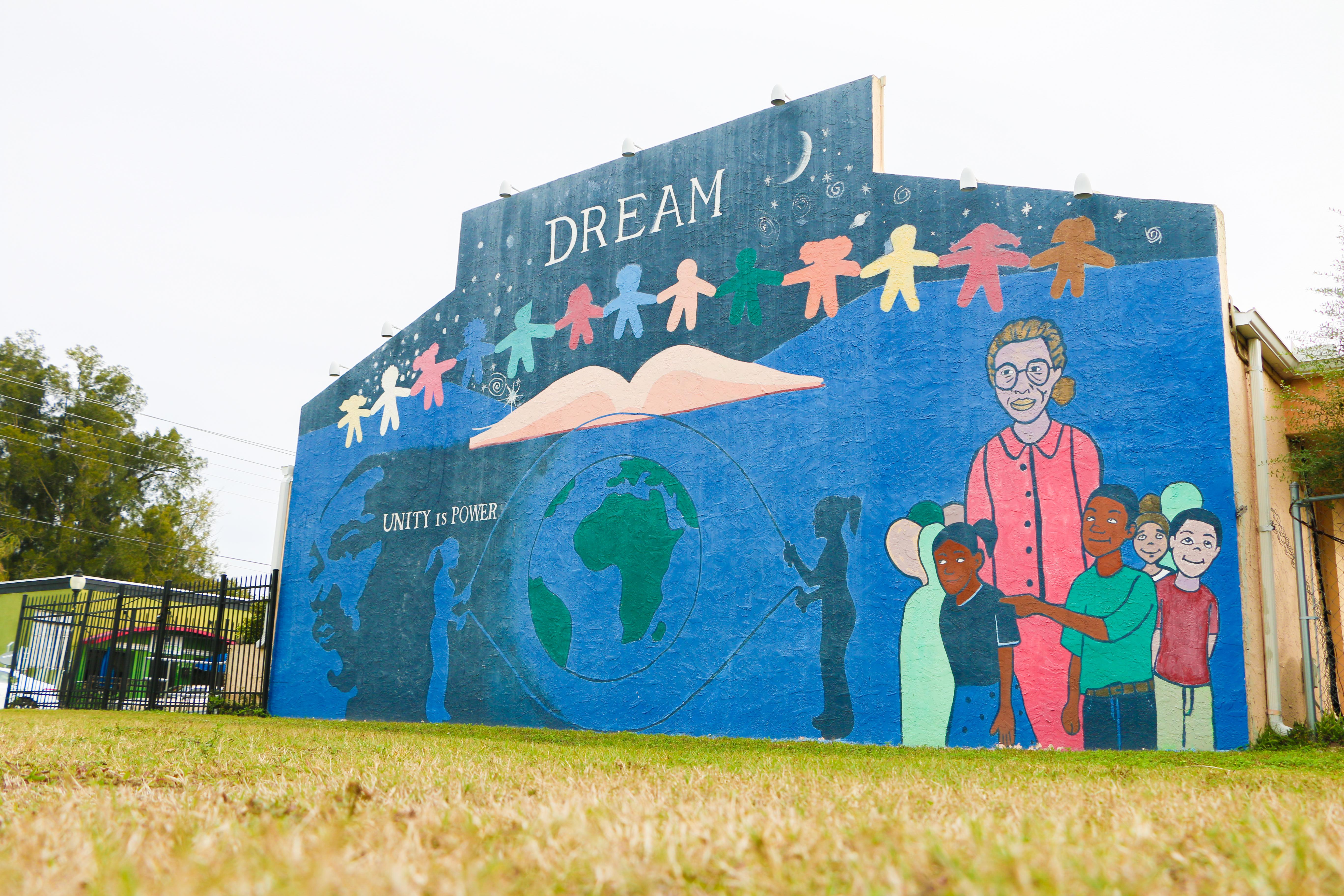Mural in Newtown Sarasota FL